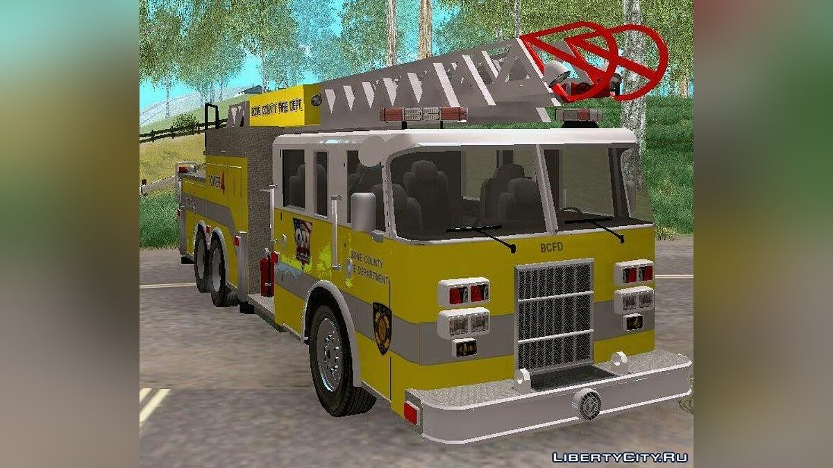 Pierce Arrow XT BCFD Tower Ladder 4 для GTA San Andreas - скриншот #3