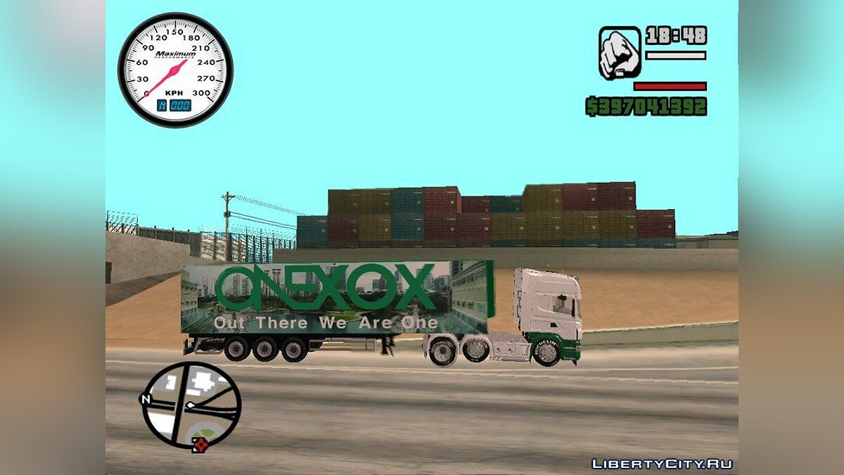 Scania R620 & ONEXOX Trailer для GTA San Andreas - скриншот #2
