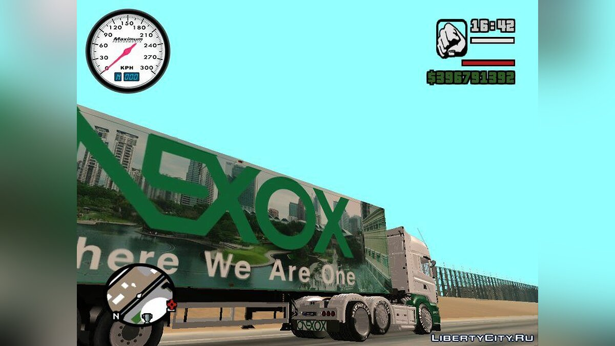 Scania R620 & ONEXOX Trailer для GTA San Andreas - скриншот #3