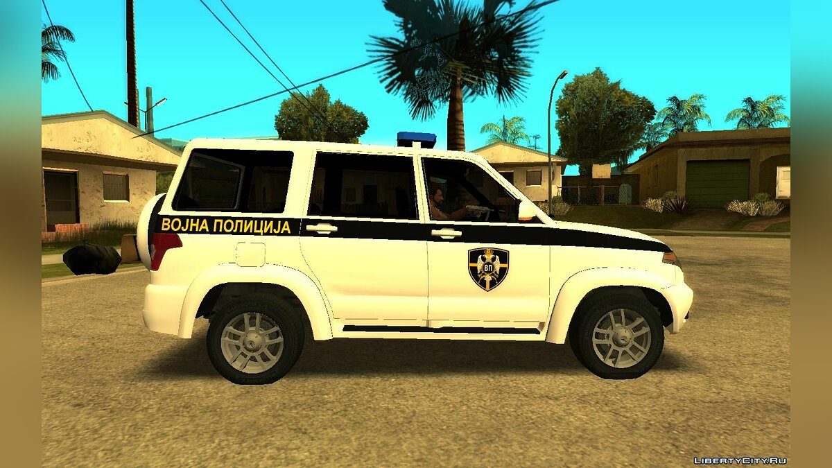 Машина УАЗ UAZ Patriot Serbian Military Police для GTA San Andreas