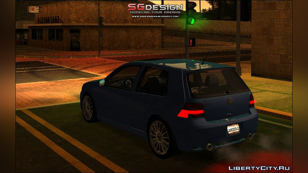 Машина Volkswagen J2 : VW GOLF R32 - Stock для GTA San Andreas