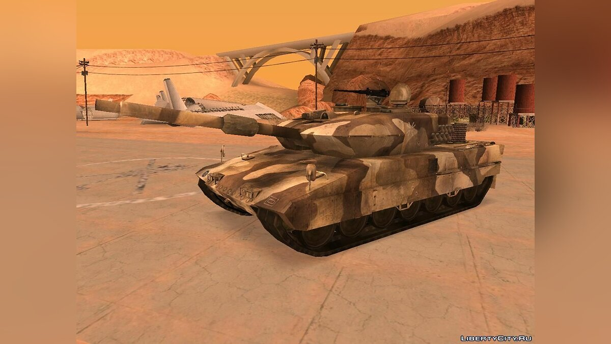 Leopard 2 из Battlefield 2: Euro Force для GTA San Andreas - скриншот #3