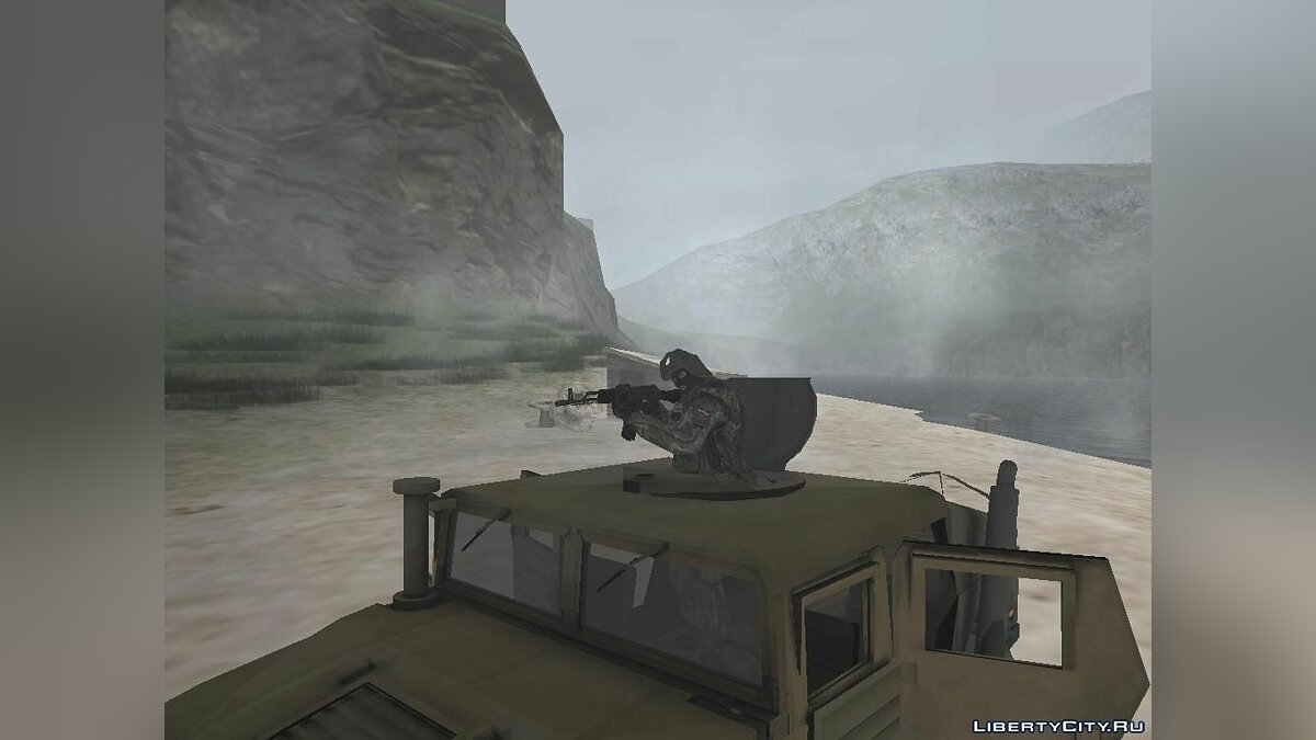 HMMWV from Battlefield 2 Fix Version [IVF, АПП, VSA] для GTA San Andreas - скриншот #4