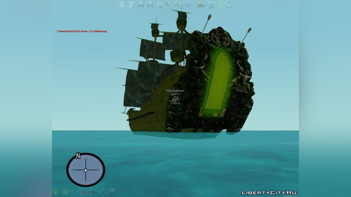 Лодка и катер The Flying Dutchman для GTA San Andreas