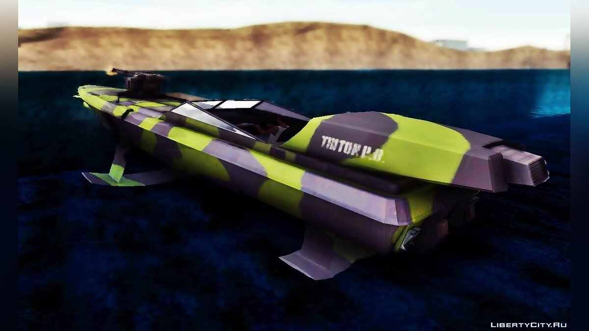 Лодка и катер Triton Patrol Boat from Mercenaries 2: World In Flames для GTA San Andreas