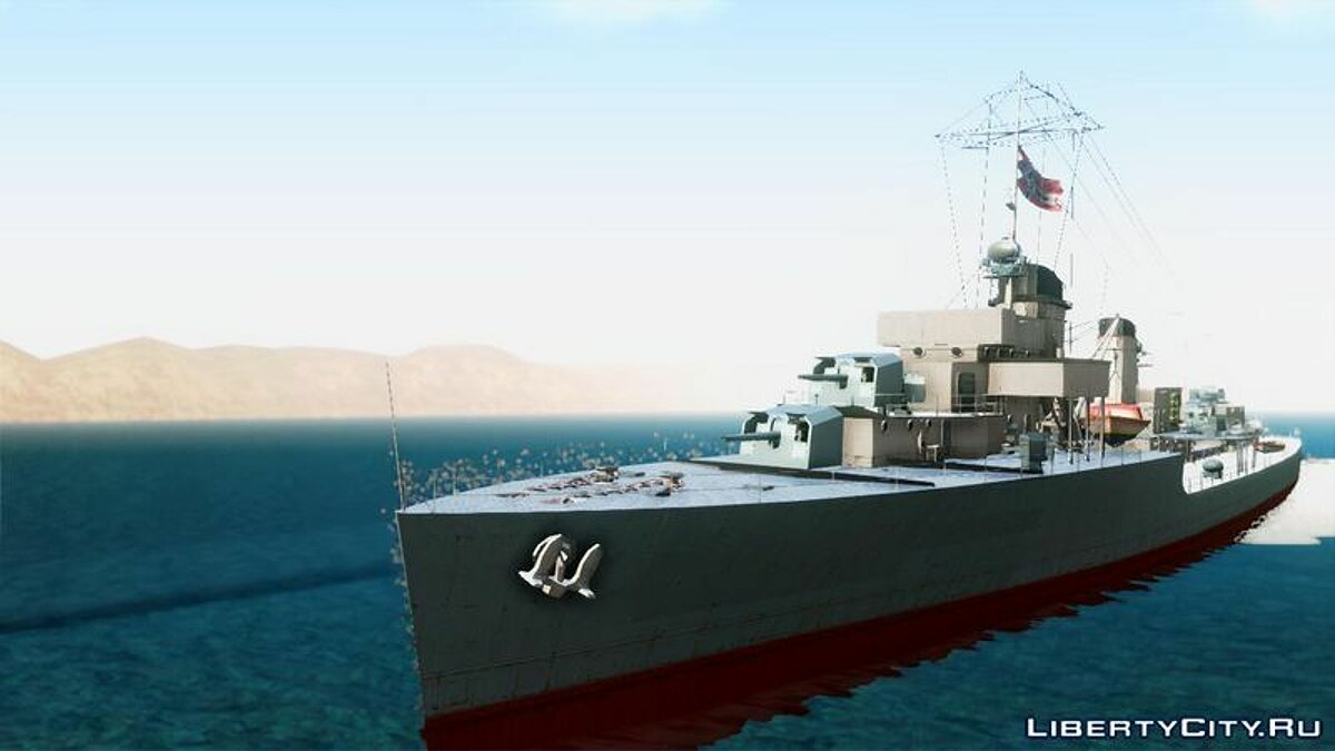Лодка и катер Type 34 Destroyer для GTA San Andreas