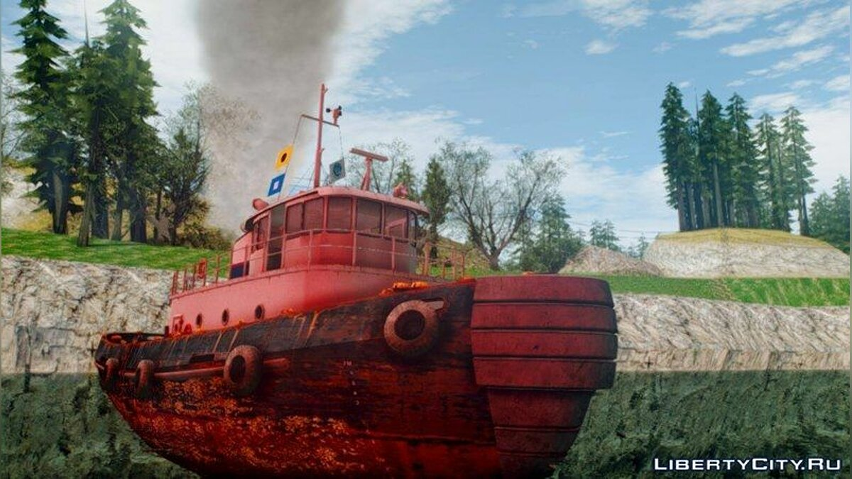 Лодка и катер GTA V Buckingham Tug Boat для GTA San Andreas