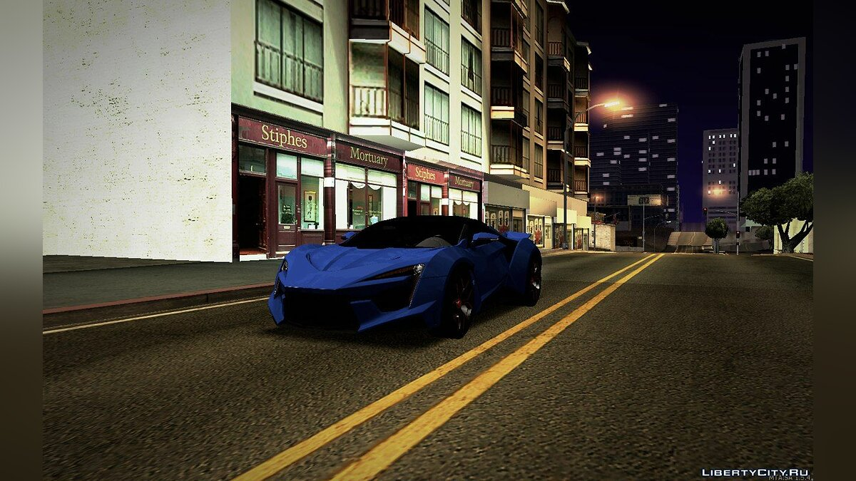 Машина W Motors W Motors Fenyr Supersport V2 для GTA San Andreas