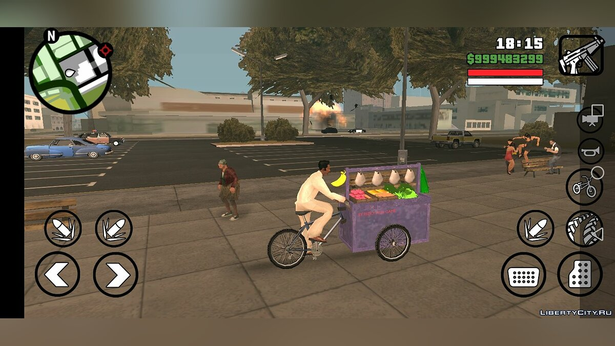 Велосипед Vegetable Cart only DFF для GTA San Andreas (iOS, Android)