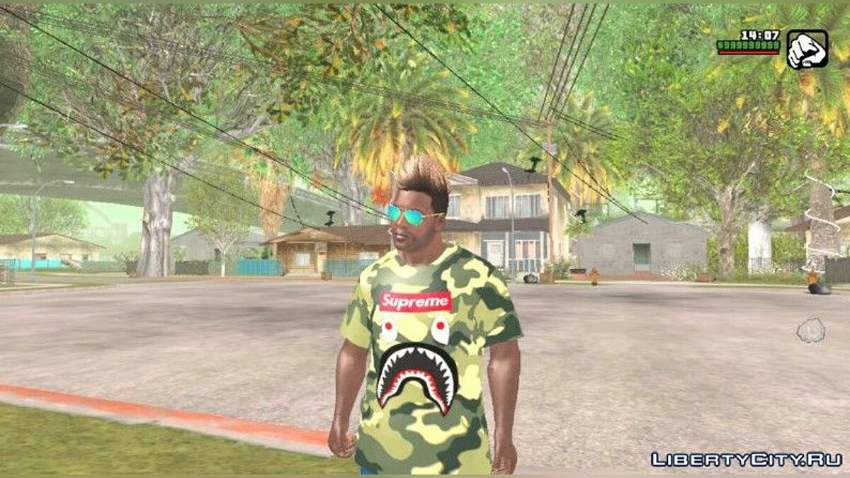 Футболка и кофта Камуфляжная футболка для GTA San Andreas (iOS, Android)