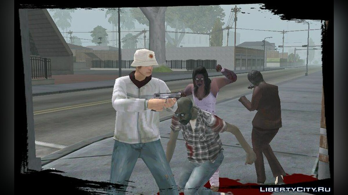 Zombie Mod for Android v1.5 для GTA San Andreas (iOS, Android) - скриншот #2