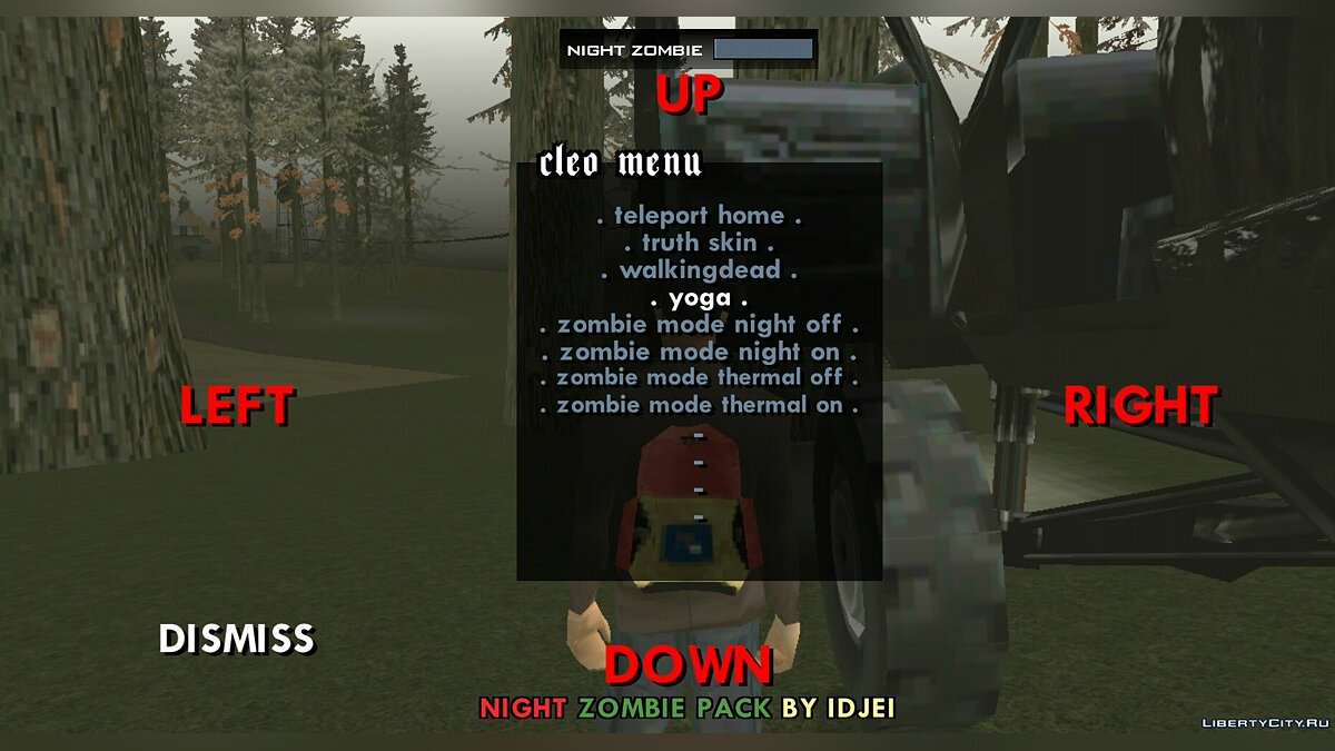 ��ольшой мод Night Zombie 0.3 (beta) Final для GTA San Andreas (iOS, Android)