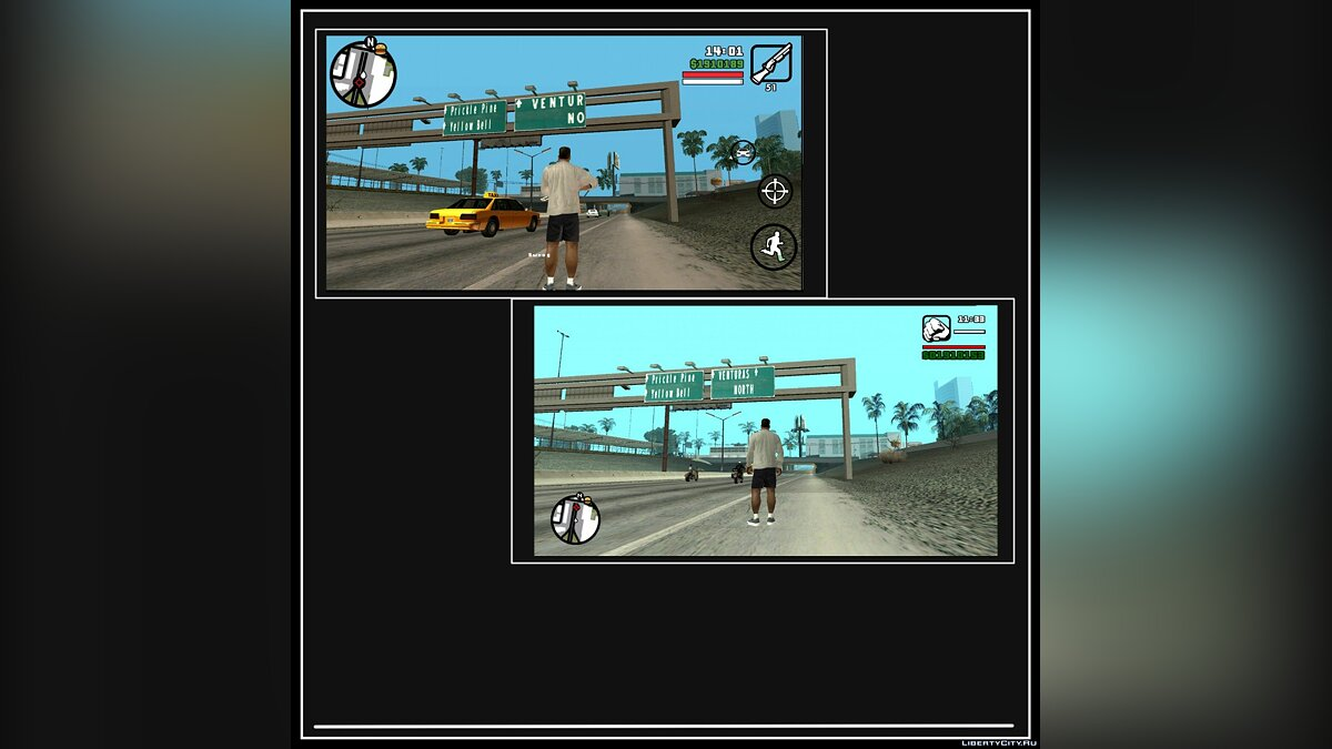 GTA SA Classic v1.4 - PC атмосфера игры в GTA SA Mobile для GTA San Andreas (iOS, Android) - Картинка #5