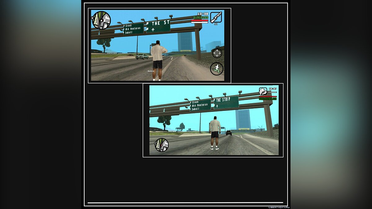 GTA SA Classic v1.4 - PC атмосфера игры в GTA SA Mobile для GTA San Andreas (iOS, Android) - Картинка #2