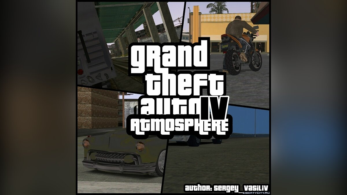 Большой мод GRAND THEFT AUTO 4 Atmosphere для GTA San Andreas (iOS, Android)