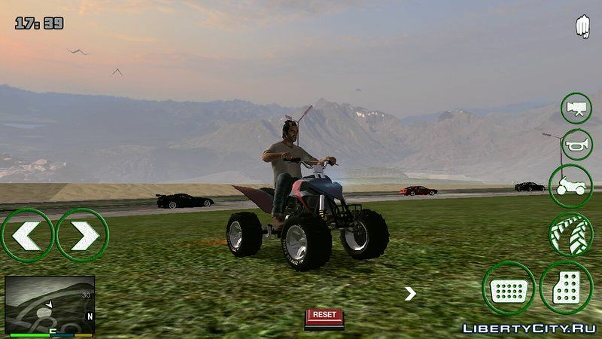 Мотоцикл Real Quad Bike GTA 5 - Квадроцикл из GTA 5 для GTA San Andreas (iOS, Android)