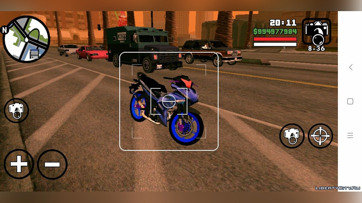 Мотоцикл Yamaha Y15 Biru для GTA San Andreas (iOS, Android)