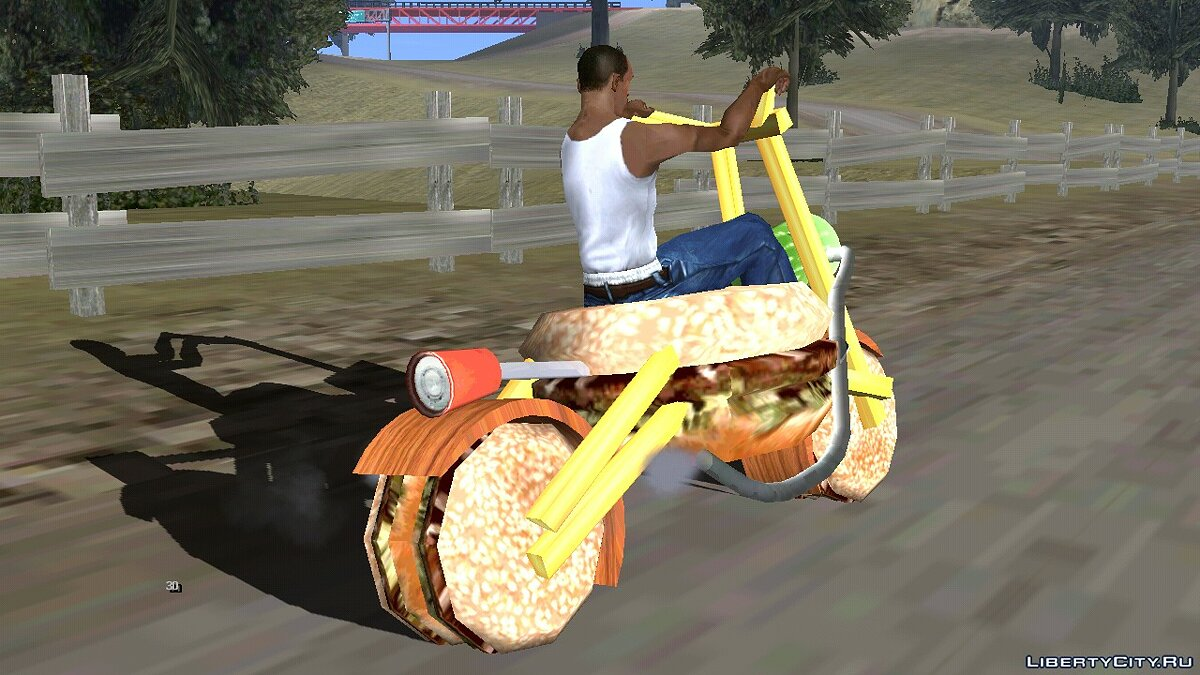 Мотоцикл Бургер байк для GTA San Andreas (iOS, Android)