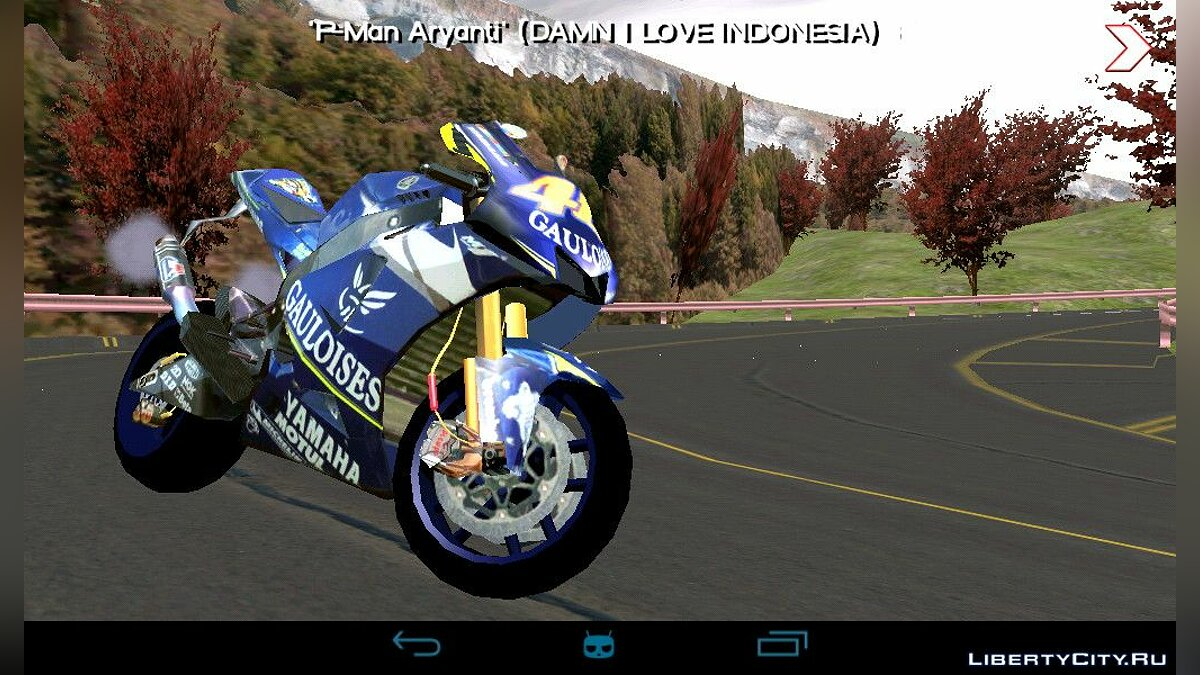 Мотоцикл Сборник мотоциклов Yamaha M1 Valentino Rossi для GTA San Andreas (iOS, Android)