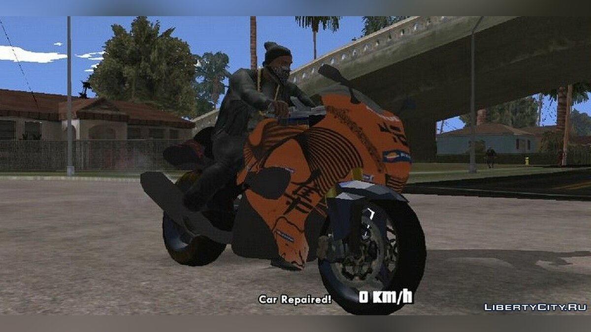 Мотоцикл Suzuki Hayabusa 1300 2008 для GTA San Andreas (iOS, Android)