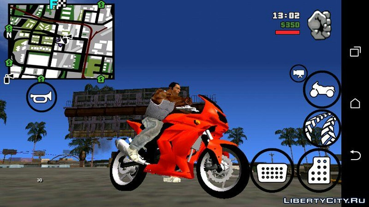 Мотоцикл Ninja 250 для GTA San Andreas (iOS, Android)