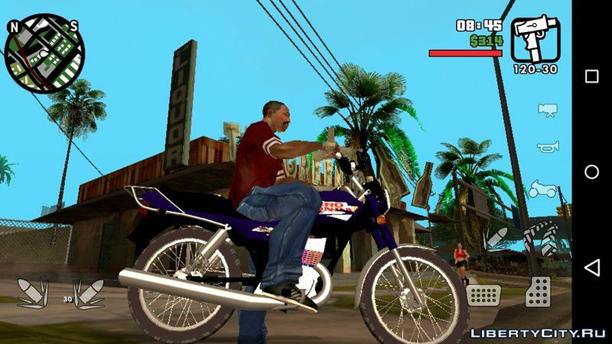 Мотоцикл Hero Honda CD 100 Deluxe для GTA San Andreas (iOS, Android)