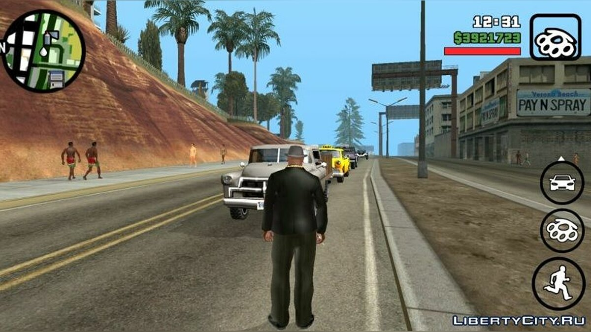 Мод Трафик как в GTA Vice City для GTA San Andreas (iOS, Android)