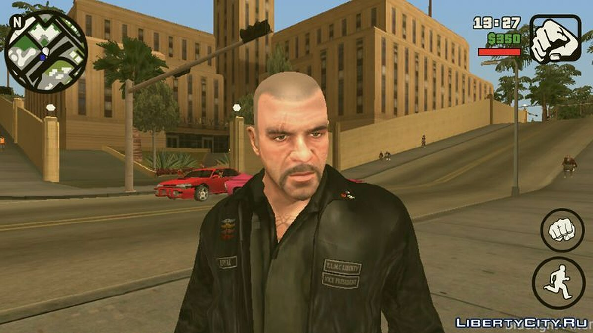 Новый персонаж Johnny Klebitz (Player.img/Android) для GTA San Andreas (iOS, Android)
