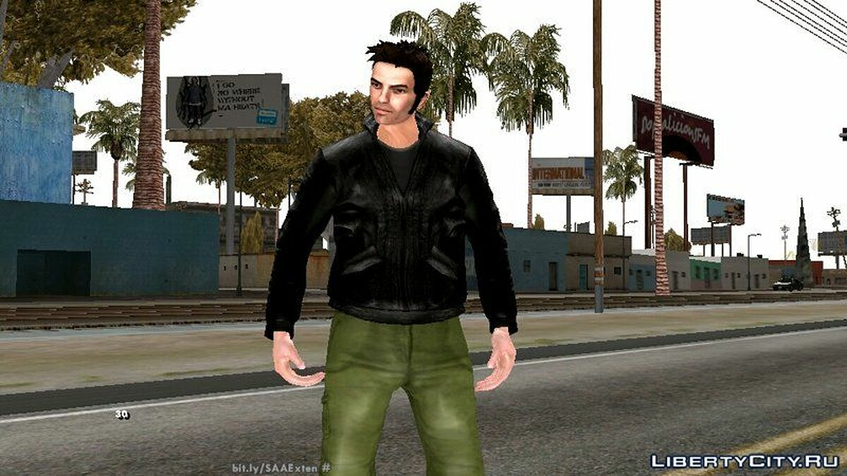 Новый персонаж HD Клод из GTA 3 для GTA San Andreas (iOS, Android)
