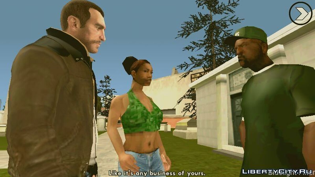 Niko Bellic Skin для GTA San Andreas (iOS, Android) - скриншот #4