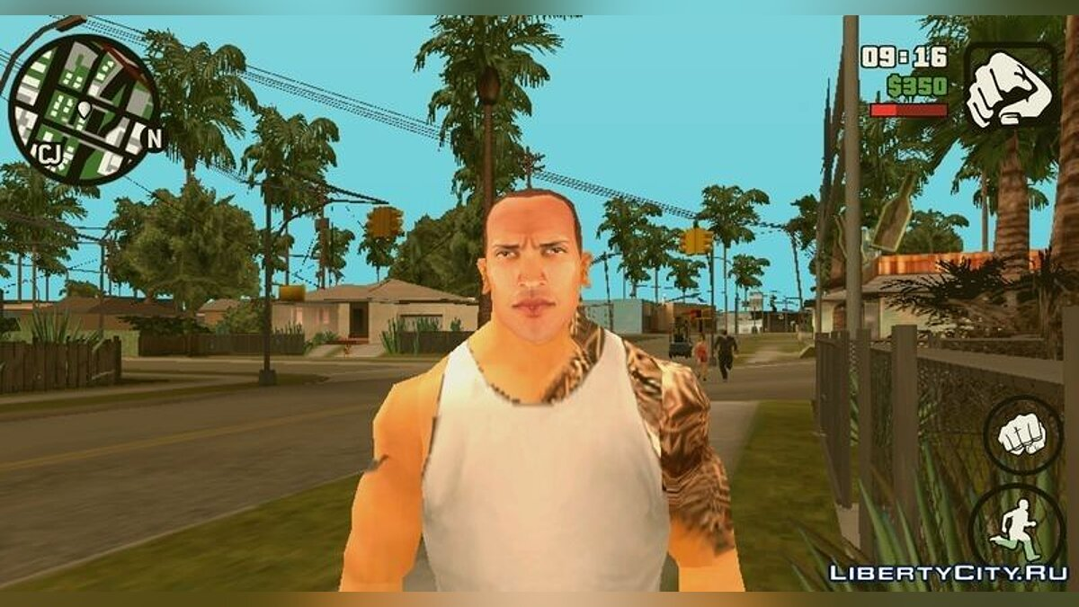 Новый персонаж Rock Skin для GTA San Andreas (iOS, Android)