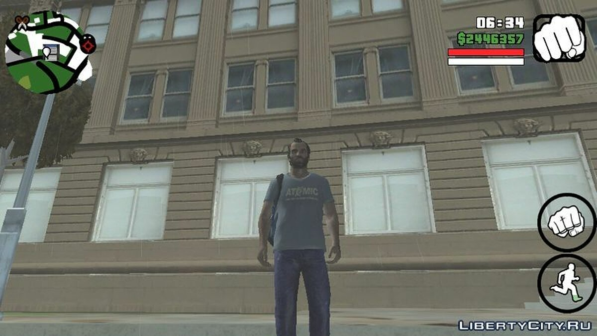 Новый персонаж Trevor Philips для GTA San Andreas (iOS, Android)