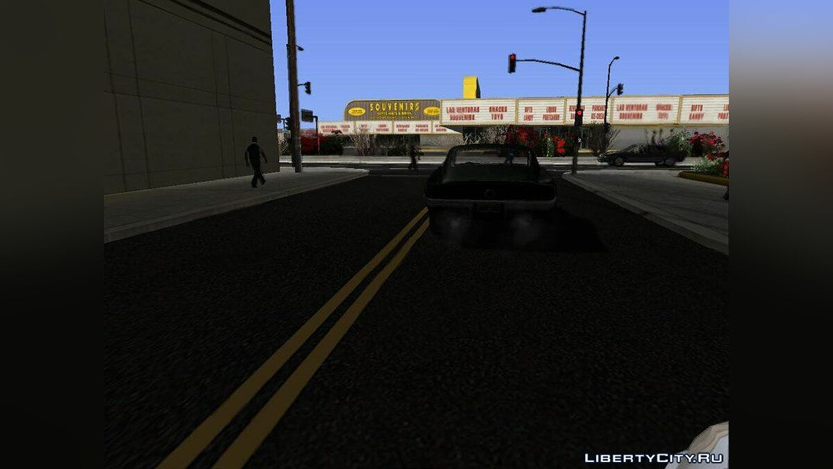 Текстурный мод New Roads in Las Venturas (V Styled) v1.0 - Новые дороги в Лас-Вентурас для GTA San Andreas (iOS, Android)