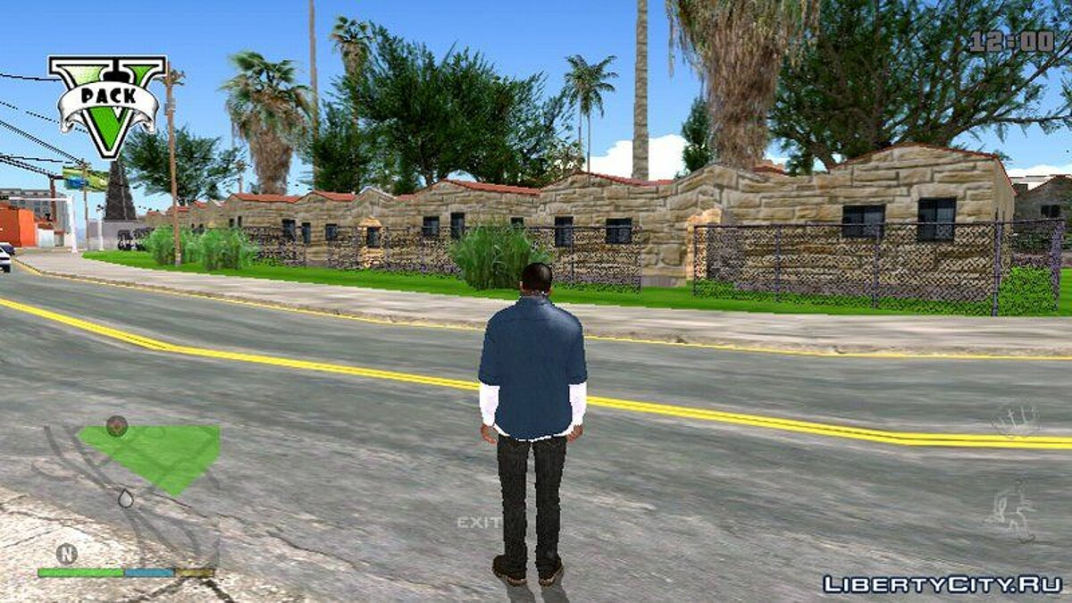 ��екстурный мод HD GTA SA The Road Texture For Mobile для GTA San Andreas (iOS, Android)