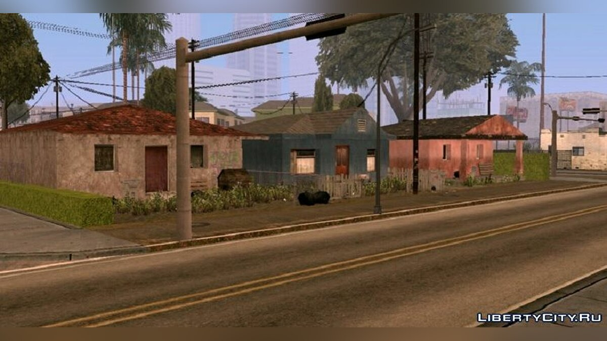 Текстурный мод Bad Idlewood  для GTA San Andreas (iOS, Android)