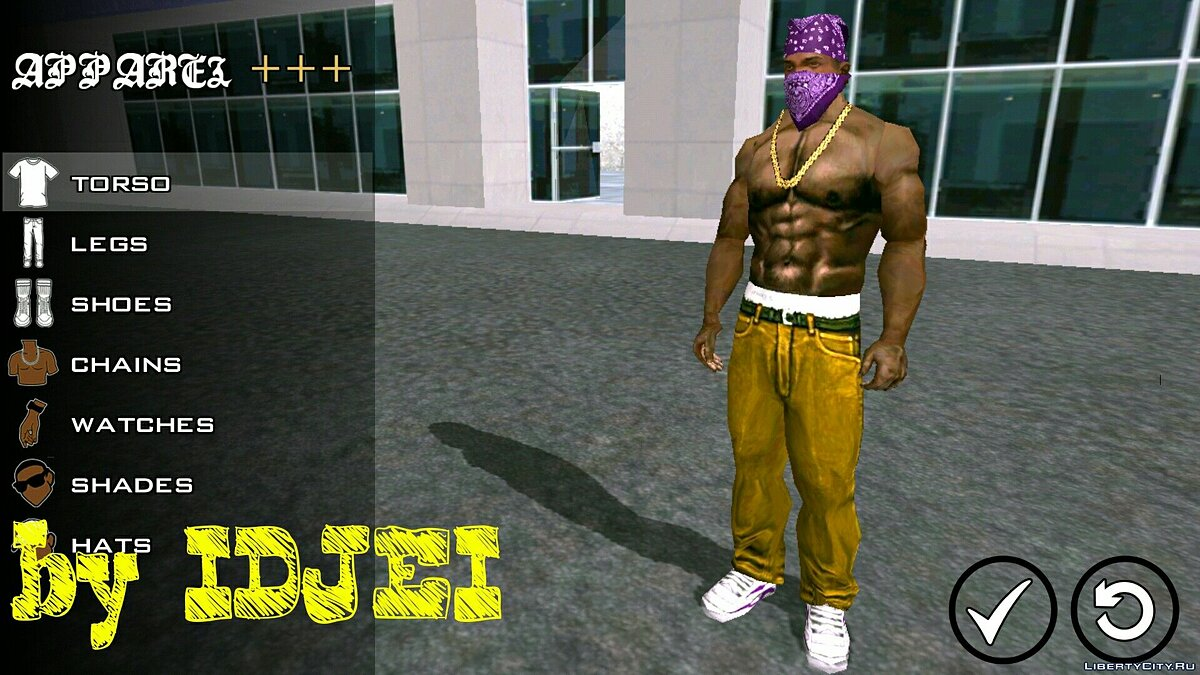 Текстурный мод Player texture by IDJEI (1.0) для GTA San Andreas (iOS, Android)