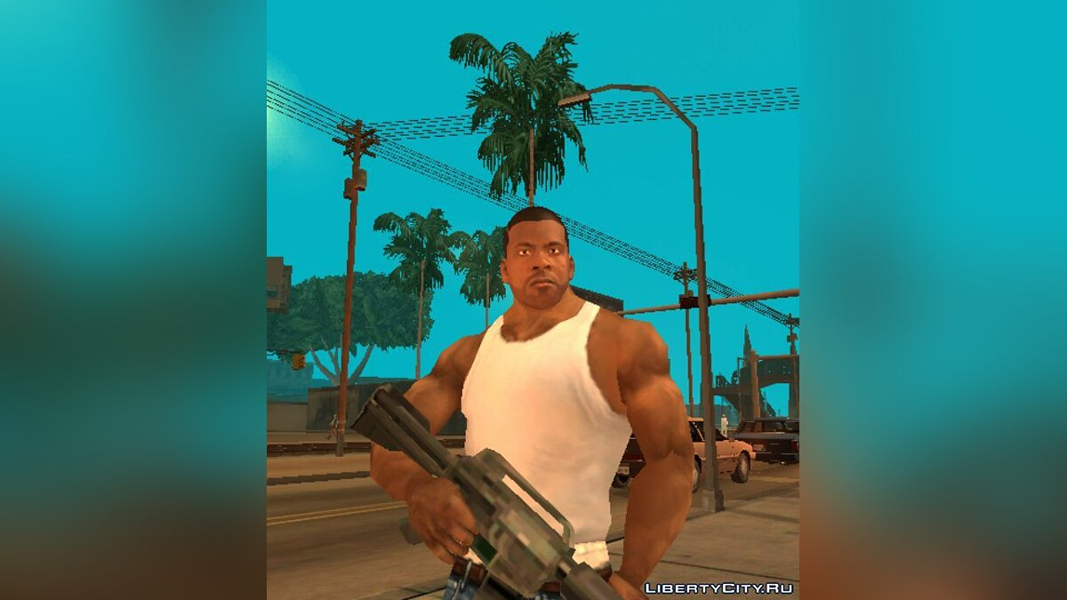 Лицо Франклина для GTA San Andreas (iOS, Android) - скриншот #4