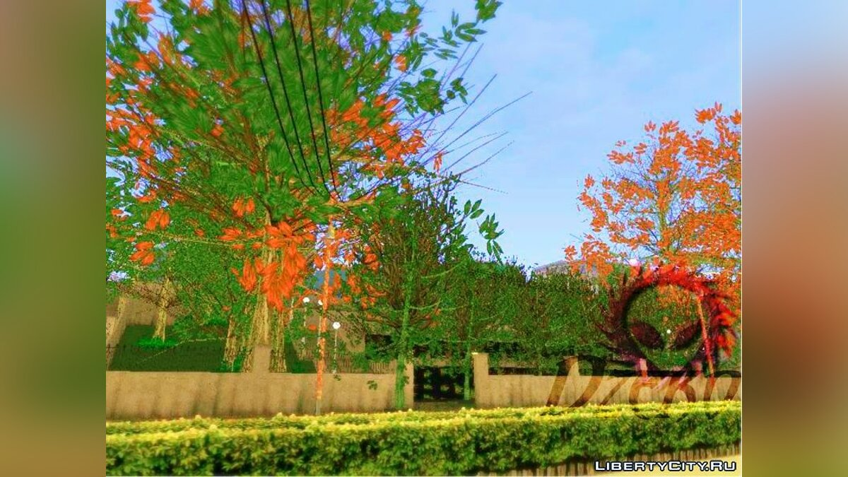 ��екстурный мод Ultra Real HD Vegetation For Android для GTA San Andreas (iOS, Android)