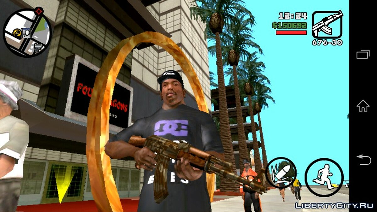 Ak-47 (Android) для GTA San Andreas (iOS, Android)