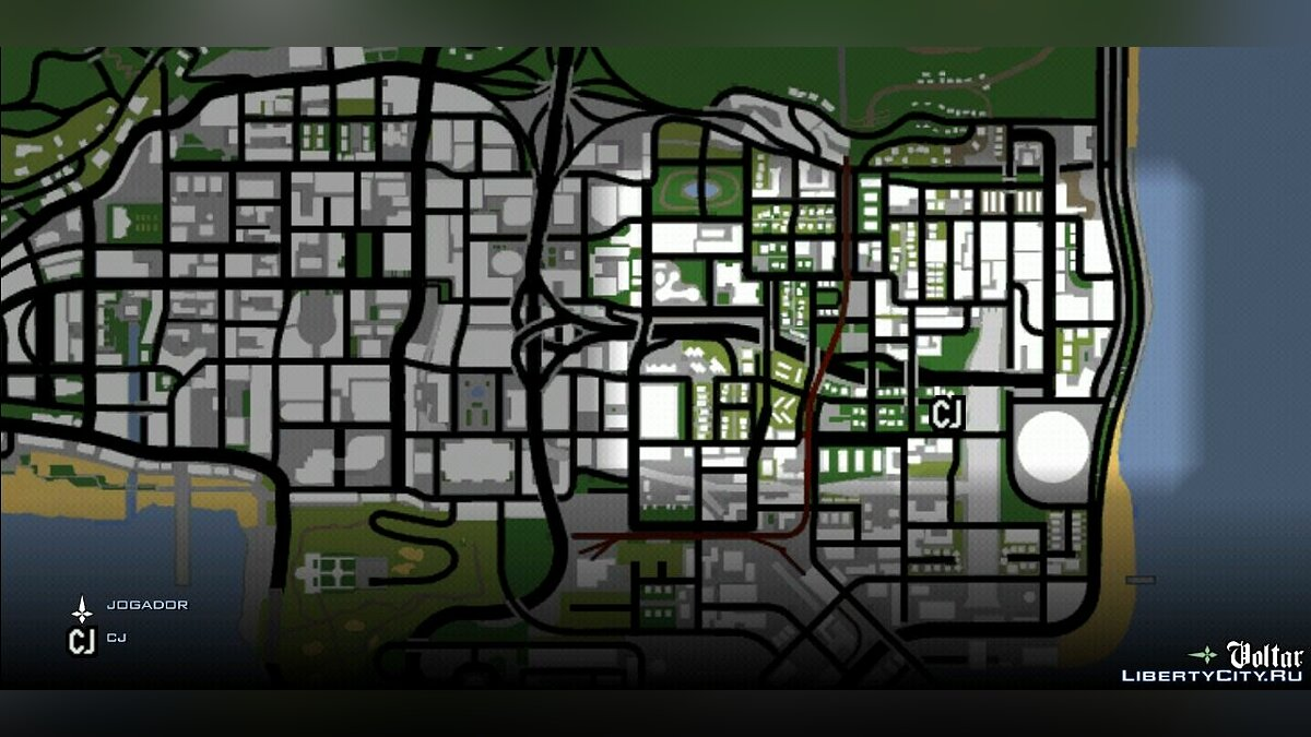 Файл PS2 Map and Icons for GTA SA Mobile для GTA San Andreas (iOS, Android)