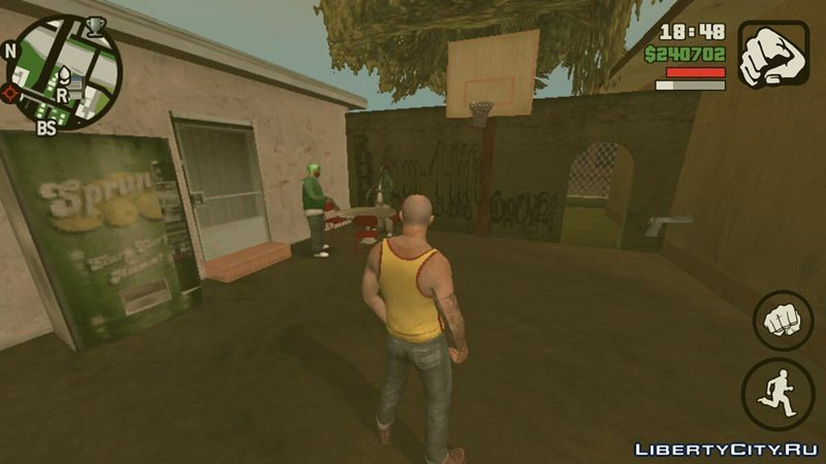 Мод Гроув-стрит гетто для GTA San Andreas (iOS, Android)