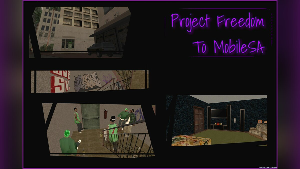 Мод Project Freedom to Mobile SA (Apartament) для GTA San Andreas (iOS, Android)
