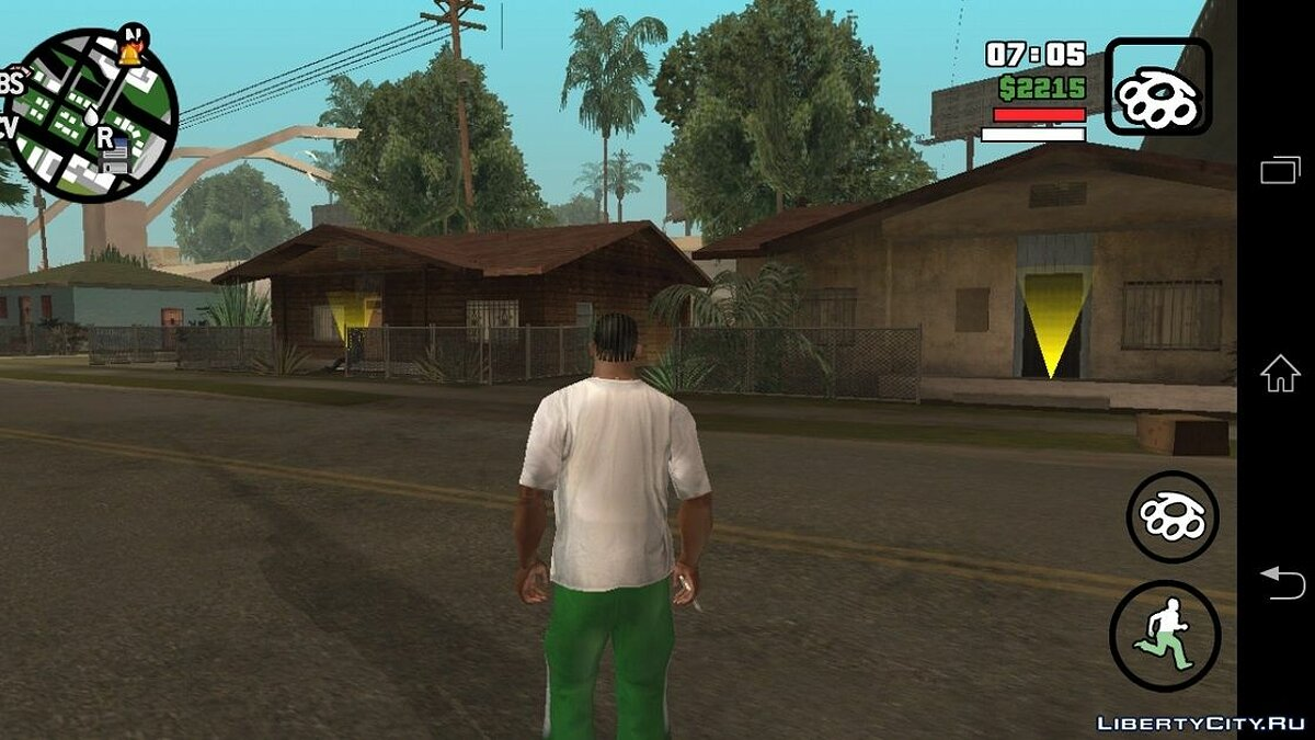 Входим в дома(Android) для GTA San Andreas (iOS, Android)