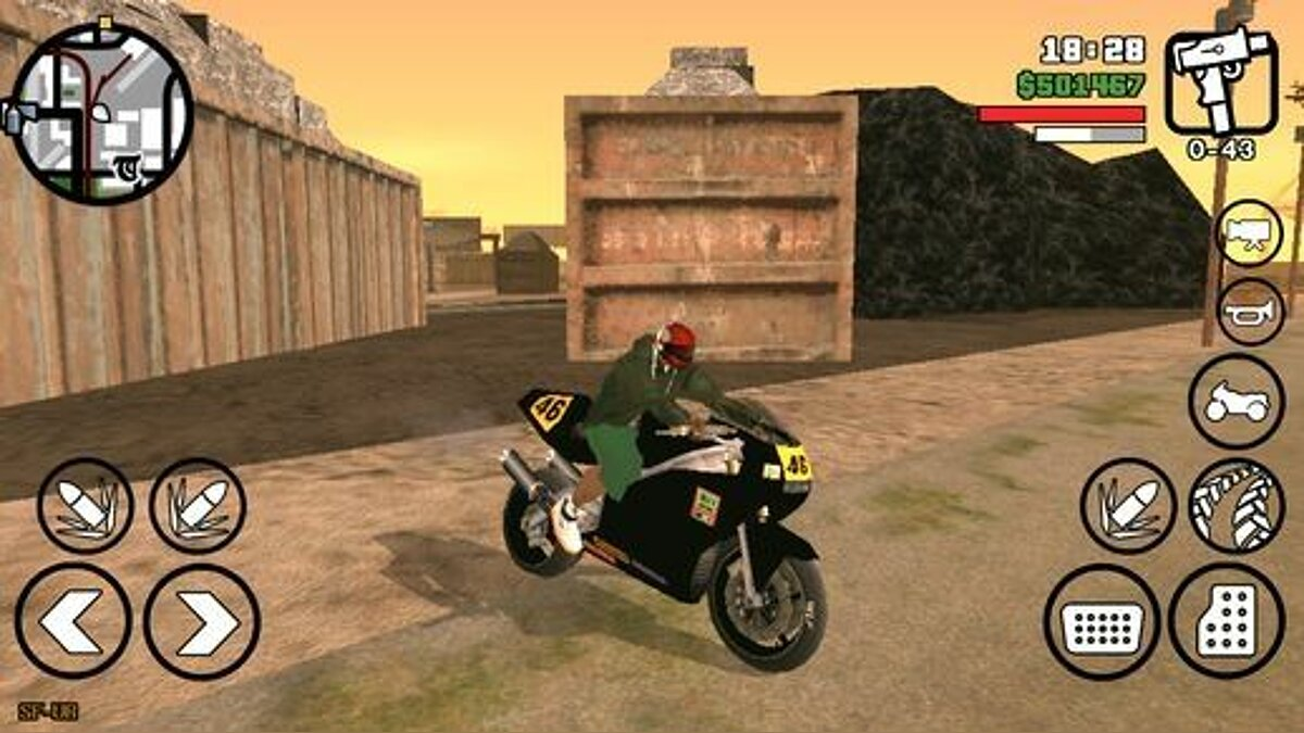 Automatic Motorcycle Helmet for Android для GTA San Andreas (iOS, Android)