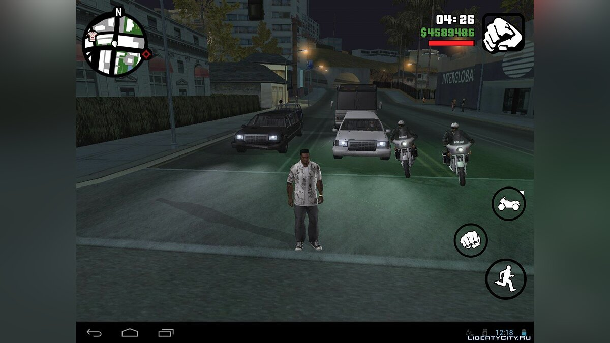 Черный лимузин (Android) для GTA San Andreas (iOS, Android)