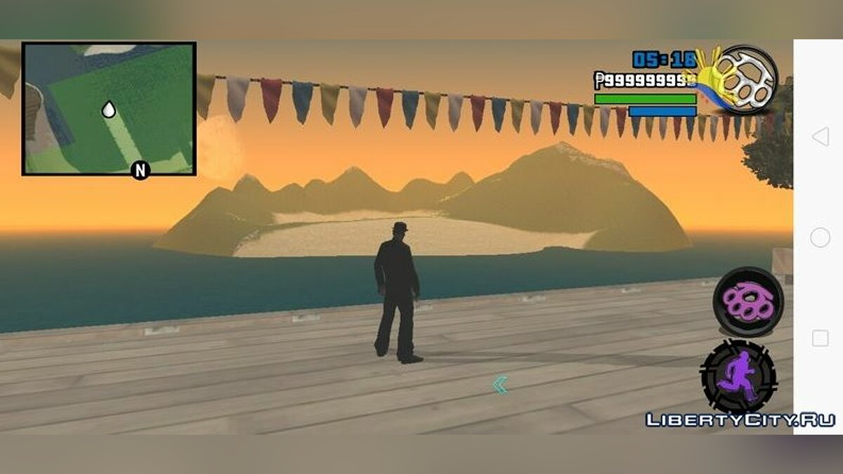 Мод Вулкан  для GTA San Andreas (iOS, Android)