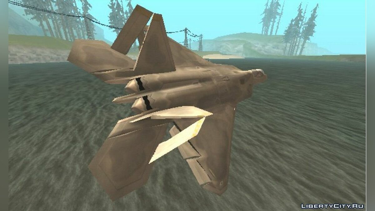 Самолет и вертолет F-22 Raptor Modify для GTA San Andreas (iOS, Android)