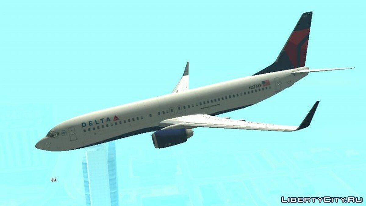 B737-800 Delta Airlines  для GTA San Andreas (iOS, Android) - Картинка #3