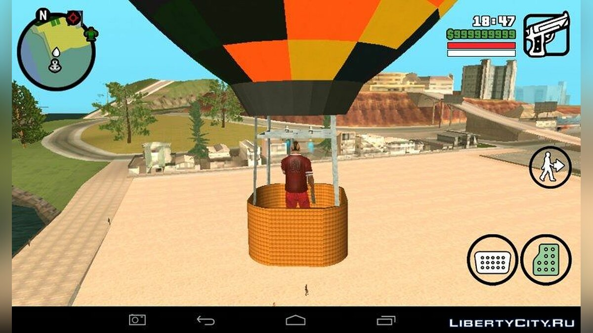 ��амолет и вертолет Hot Air Balloon Mod для GTA San Andreas (iOS, Android)