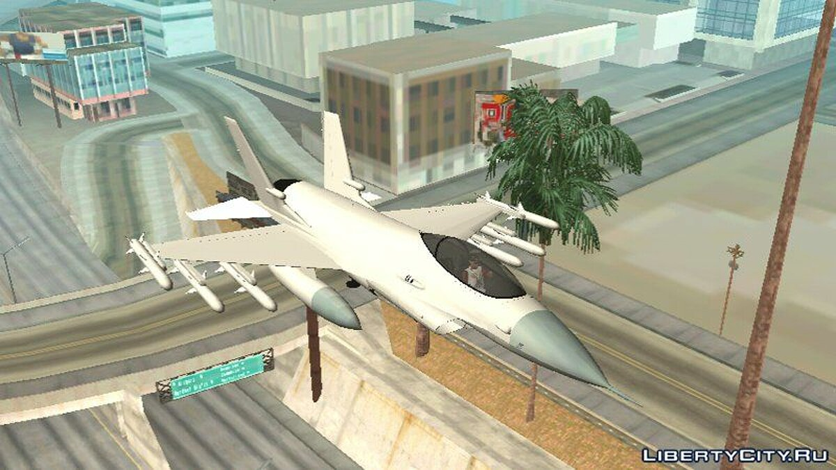 Самолет и вертолет GTA V P-996 LAZER For Android (DFF only) для GTA San Andreas (iOS, Android)